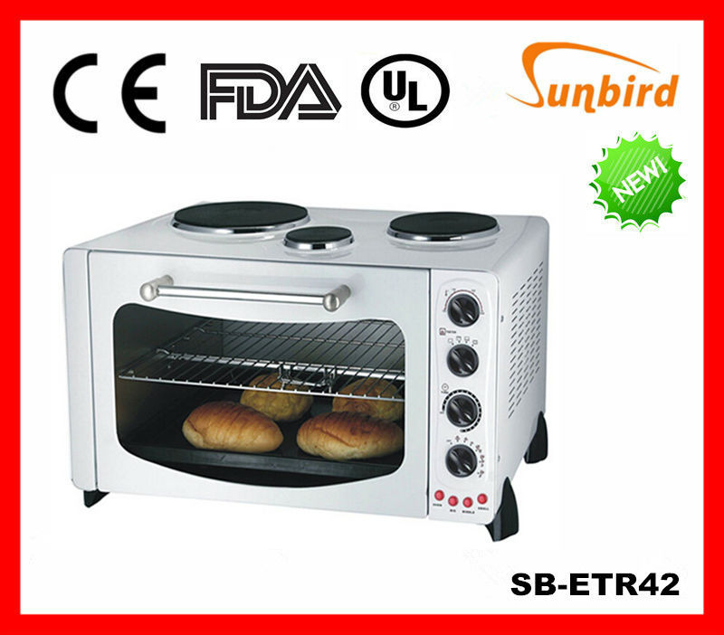 Sunbird 42L Electric Toaster Oven w/60 Minute Timer/Toast Grill for Home/ Caravan