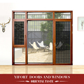 aluminium door window mosquito net door single swing design