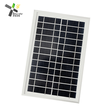 A grade polycrystalline 6W 12V solar panel with custom small size