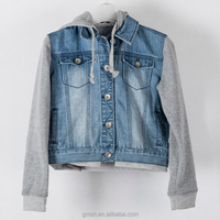 Women Custom Plain Denim Jacket Thick