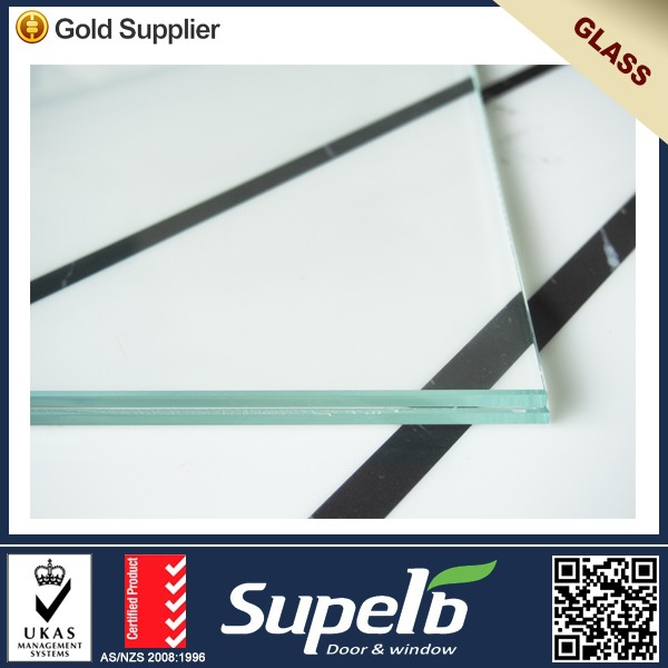 Laminated glass thickness 6+0.76PVB+6 double pane tempered glass Safety glass