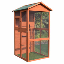 Wooden small animal house wood bird cage
