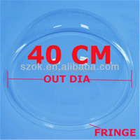 2015 supply different size clear acrylic hollow sphere