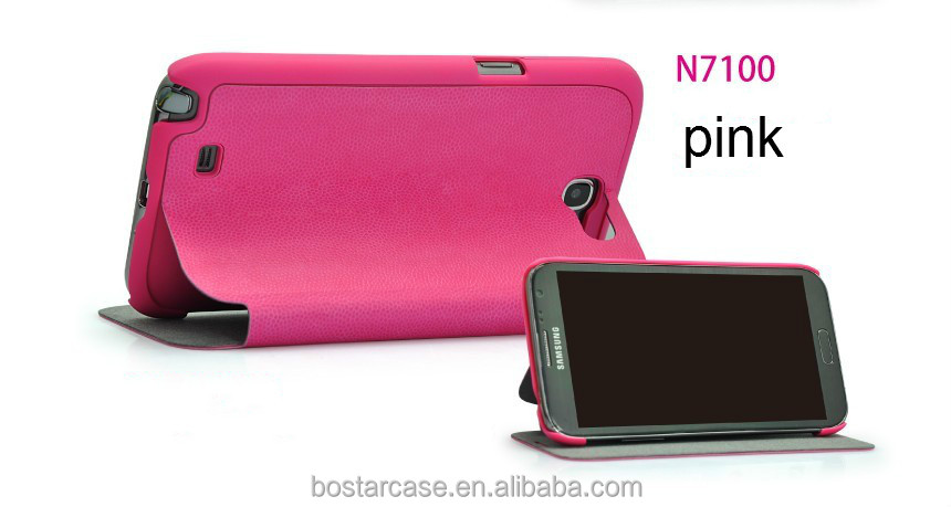 New leather case for samsung galaxy note 2/N7100 case
