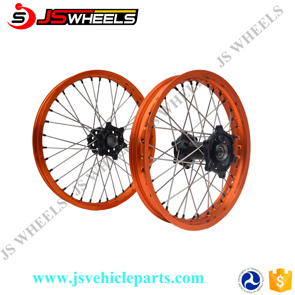 16Inch 19 Inch Dirt bike Alloy CNC Bullet spoked wheels for KTM SX85