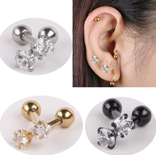Stainless Steel Tragus Helix Ear Stud Earring Ball Barbell Ear Piercing Barbell Body Jewelry