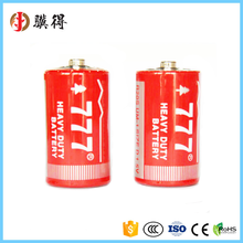 Wholesale 777 Brand Battery 1.5V R20S D size carbon zinc dry battery for Gas Stove