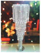 New nice high quality table top crystal chandelier flower stands centerpieces for wedding/party/home decoration