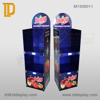 2 layers customized fruits cardboard display shelf for supermarket sales
