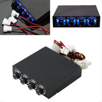 2017 computer 3.5inch PC HDD CPU 4 Channel Fan Speed Controller Led Cooling Front Panel Promotion