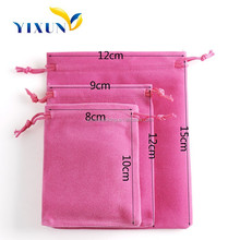 Nice design wholesale custom color velvet bag packaging for jewelry pouch with high quality