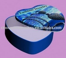 heart shape jewellery packaging gift tin box
