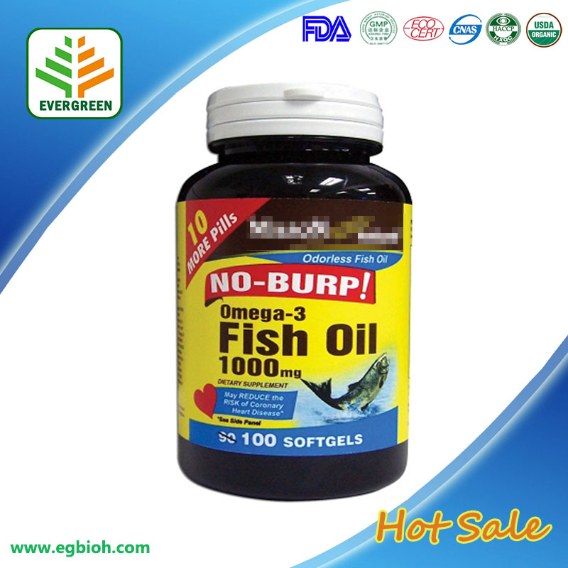 EVERGREEN Supply GMP Certified Superior Refined Fish oil & omega3 softgel
