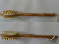 Hope selling wooden material with natural bristle body massage brush and back wsh body massage brush for scrubbing back
