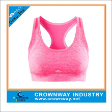 Customized wholesale sports bra for women, Racerback yoga bra with reflective printing
