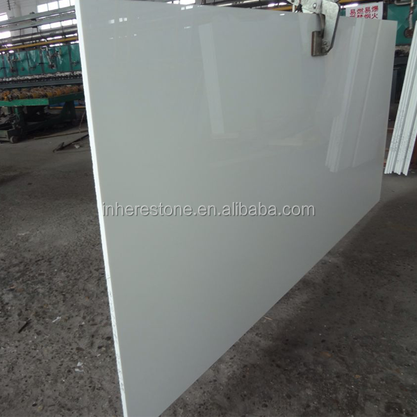 pure white crystal glass white artificial stone