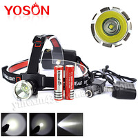 1pcs CREE XML-T6 Rechargeable LED Headlamp With Battery + Direct charger + Car charger