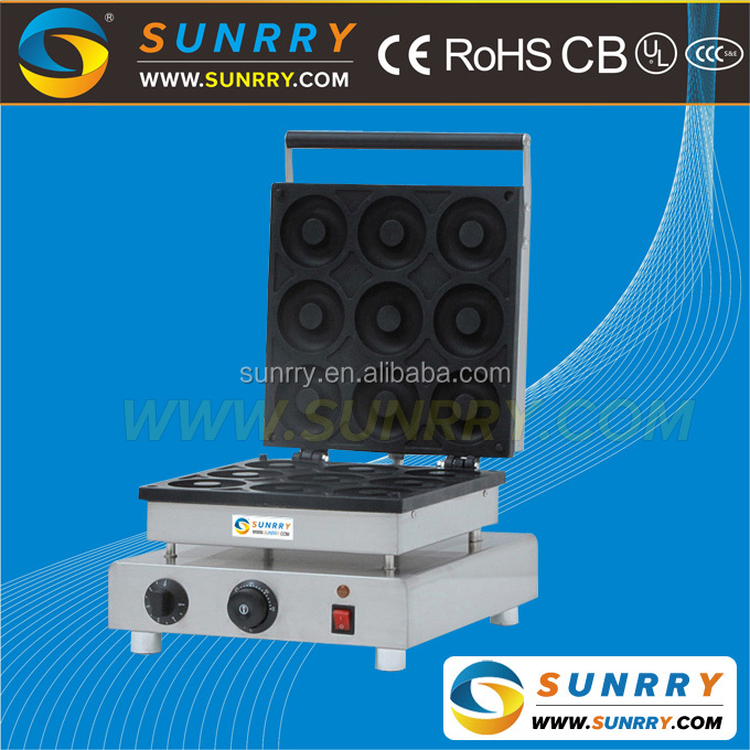 Commercial manual donut making machine maker for baking 9 mini donuts (SUNRRY SY-DN33F)