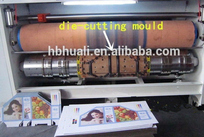 5 colors printing machine on corrugated paperboard , with ceramic anilox roller and doctor blade