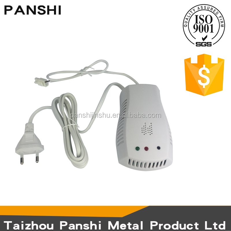 Factory durable household indoor lpg gas leak detector solenoid valve combustible gas alarm