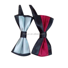 Good touch men wholesale polyester self ties bowtie Most Cheap Customized Promotional satin Bow tie