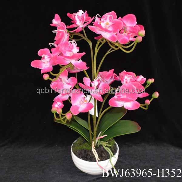 artificial plants and trees/artificial orchid flower bonsai