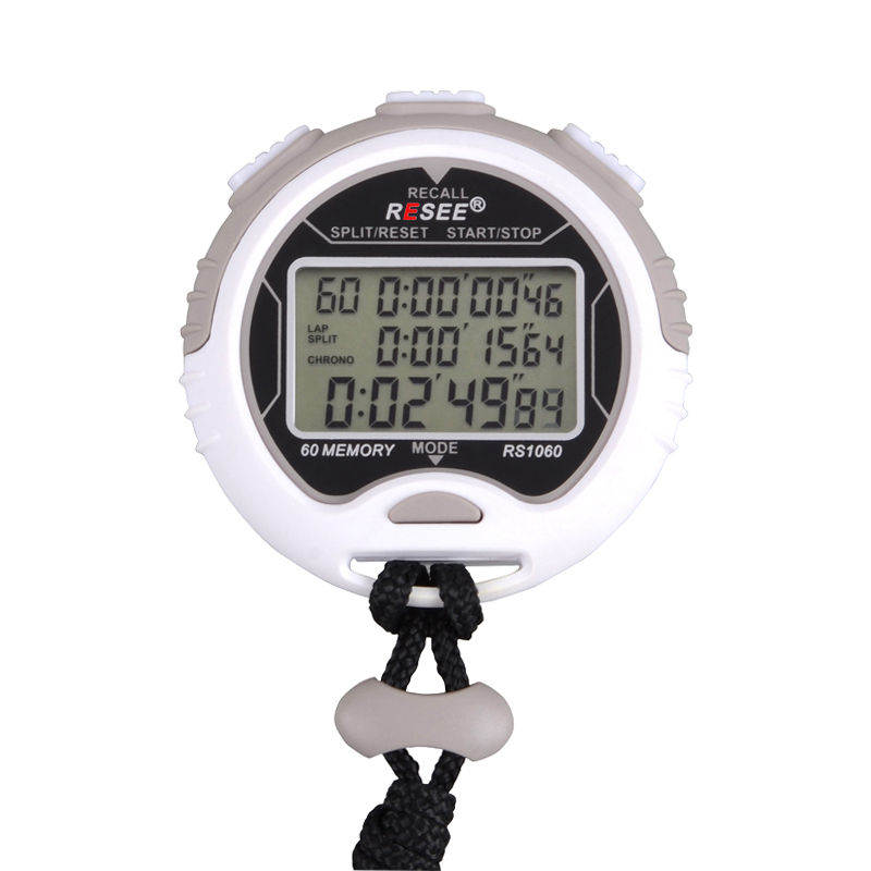 resee high quality memories mini digital stopwatch with time display