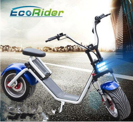 Newest citycoco big wheel 1200w bruhsless motor scooter green city electric bike