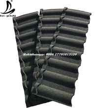 Black Color Fire-resistant Stone coated roof tile Milano roofing design with affordable price