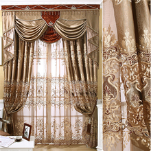 wholesale ready made curtains with valance jacquard blackout curtains