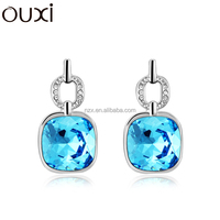 OUXI 2016 New fashion design manufacturer price women Austria crystal stud earrings 20705