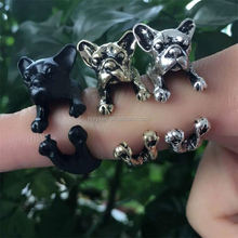 pretty animal pet jewelry 3 colors adjustable Shar Pei dog ring