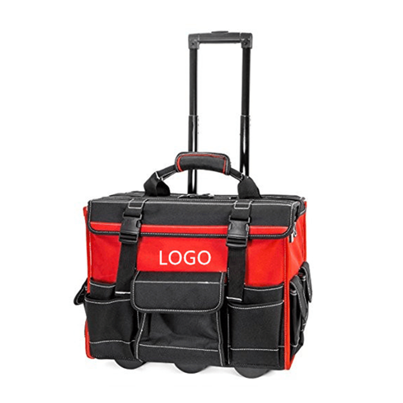 Custom Canvas Rolling Tool Bags with Wheels and Big Capacity