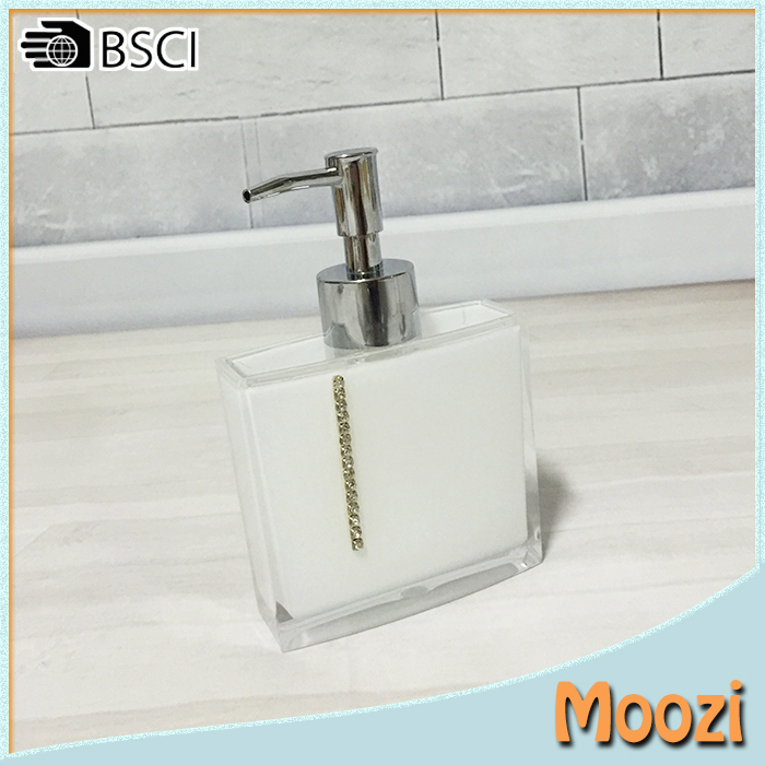 Acrylic Bathroom Set Accessories Hand Wash Soap Dish Dispenser