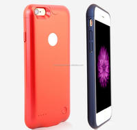 High quality silicone external backup mobile charge case for iPhone 6/6s