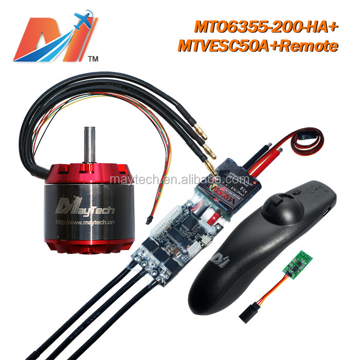 Maytech bldc motor controller for electric car 6355 200kv and 36v super esc based on vesc and <strong>mini</strong> remote for e skateboard(3pcs)