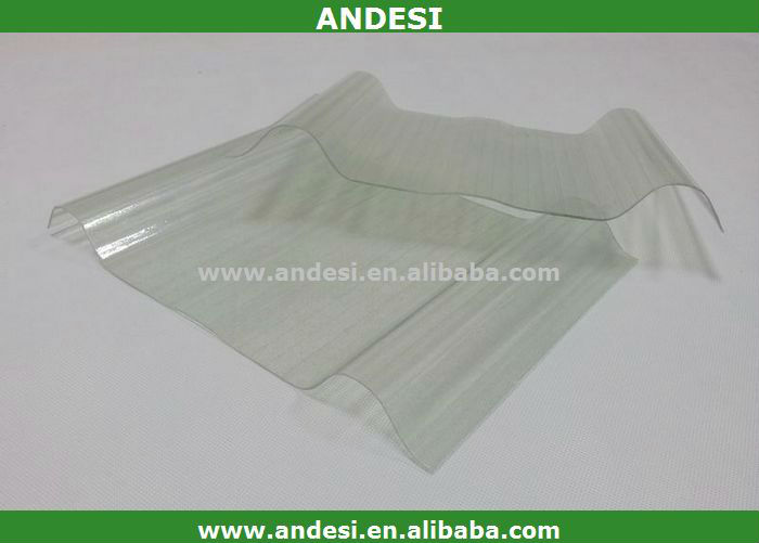 plastic clear corrugated roofing panel