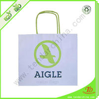 wholesale t-shirt paper bag for shopping and gift packing made of various slogan paper bag