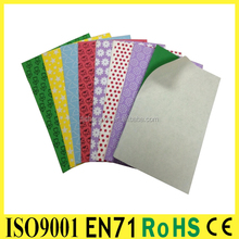Colorful closed cell thin adhensive EVA sheet foam material
