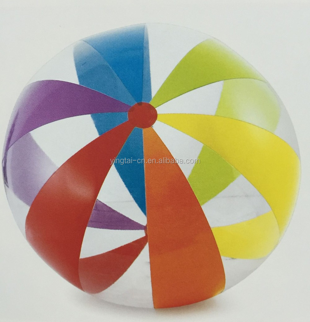 clear colourful inflatable pvc beach ball toys