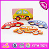 Hot new product for 2015 Kids toy wooden shape toy,wooden toy 3d puzzle diy toy,Children toy car style wooden puzzle toy W13D034