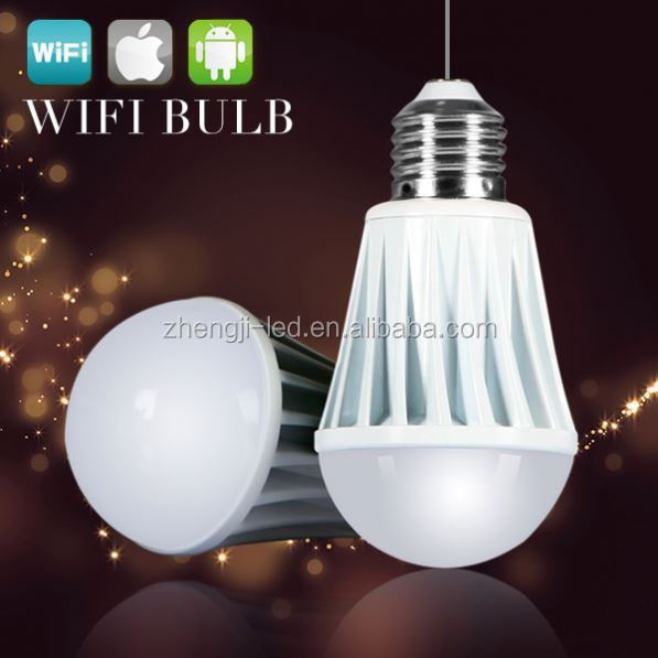 AC85-265V 2.4G Mi.light E27 9W Mushroom Par30 RGB Smart control LED Wifi lamp
