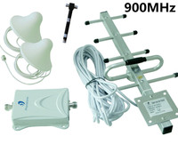 GSM 3G WCDMA 900MHz Cell Phone Repeater 65db Signal Booster Kits with 3 Antenna Free shipping