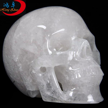 quartz skull,skull ring with crystal eyes,hand carved crystal skulls