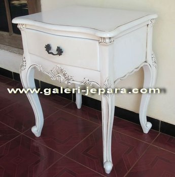 French European Bedside Tables - Antique White Bedroom Sets Furniture