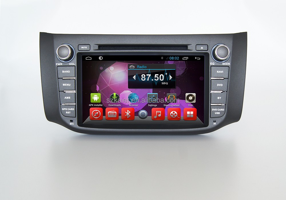 Android Quad core car GPS navigation DVD player for Sylphy bluebird/ Sentra
