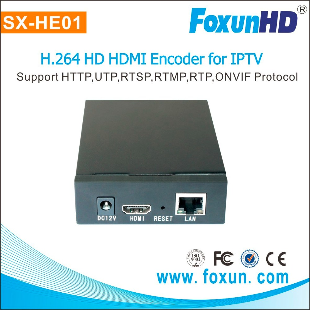 1080P High definition H.264 IPTV live streaming encoder support VLC player