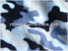 Camouflage polar fleece fabric