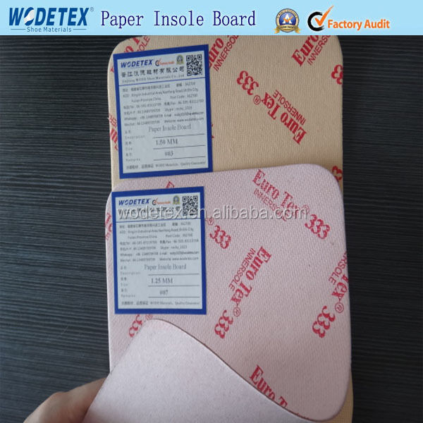 Hard and stiff insole paper board for shoe making