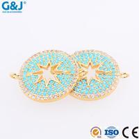 guojie brand micro Necklace Pendants multicolor cubic zircon micro pave pendant for necklace